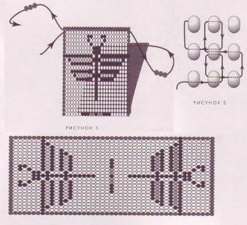 схема амулета со стрекозой