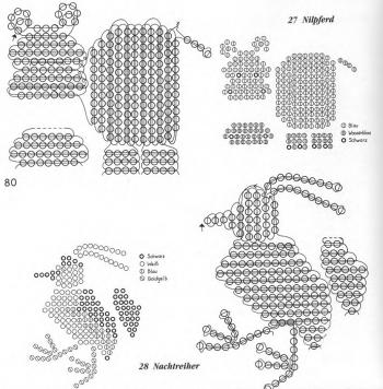 плетение бегемота и птицы