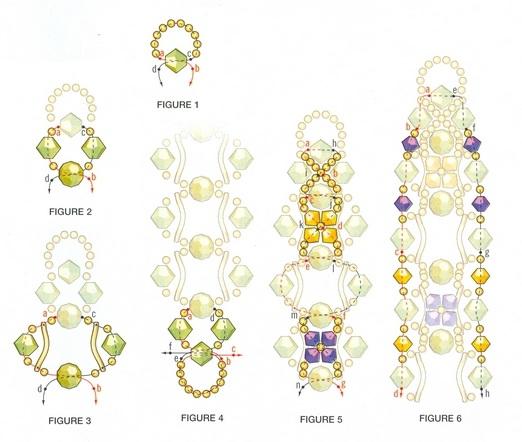 Немного фантазии и у вас получится красивый и необычный браслет.  Схема плетения браслетов из бисера.