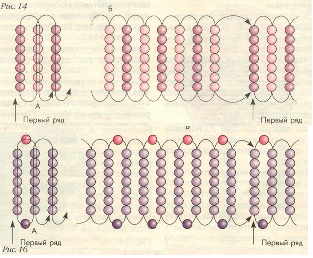 объемные браслеты из бисера схемы.
