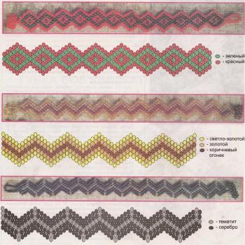 Плетение из бисера браслеты широкие.