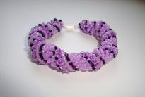 Фиолет браслет из бисера