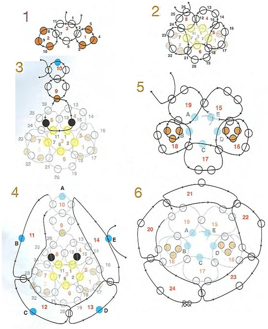 схема плетения брелка мышки из бисера. плетение мышки из крупного бисера.