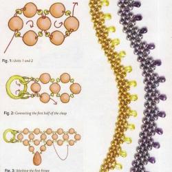 плетение бус из бусин