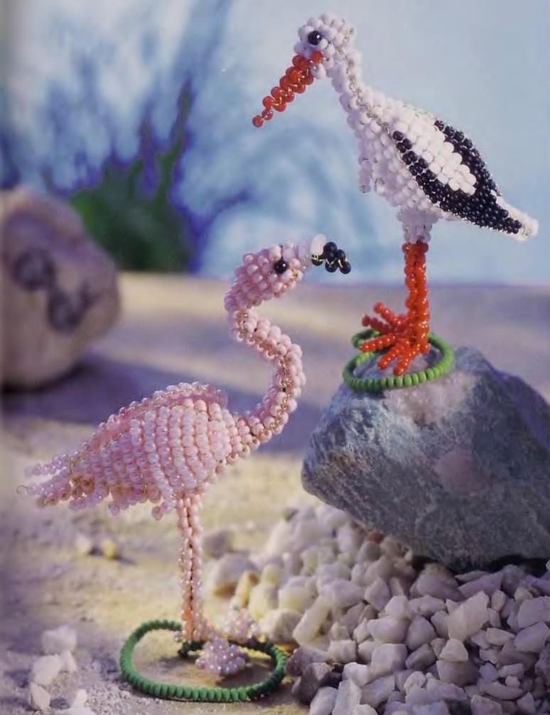 Схема фламинго из бисера 216