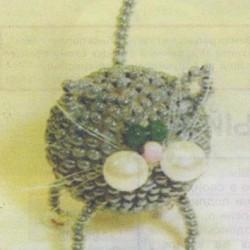 круглый кот из бисера