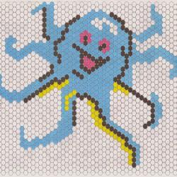 схема осьминога из бисера