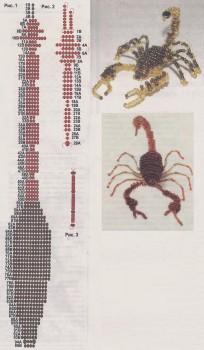плетем скорпиона из бисера