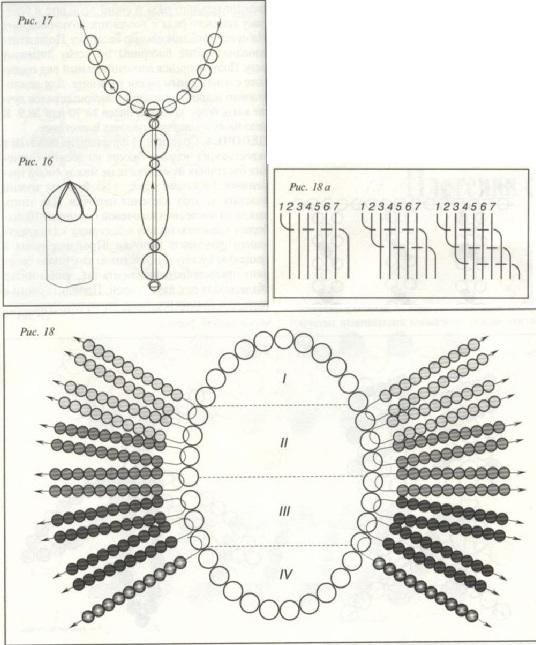 схема плетенки из бисера