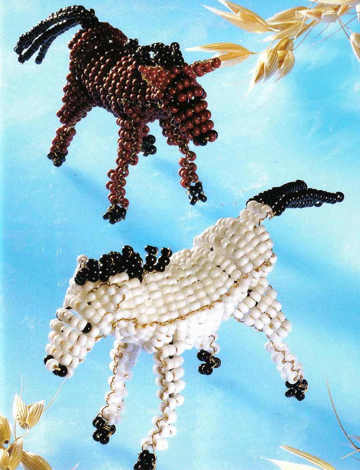 Маленькая объемная фигурка зебры из бисера.  Отличный сувенир. схема плетения.