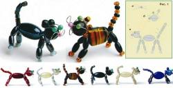 схема плетения кота из бусин
