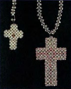 крестик-подвеска из бисера