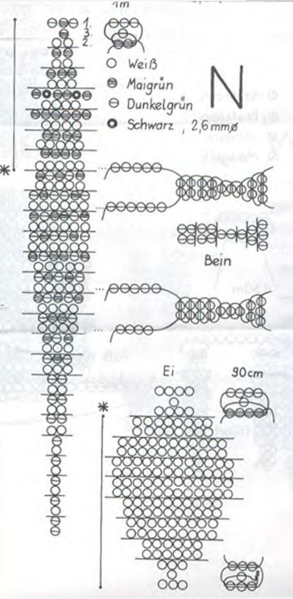 схема плетения. крокодил