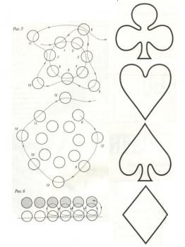 схема кулонов-карт из бисера