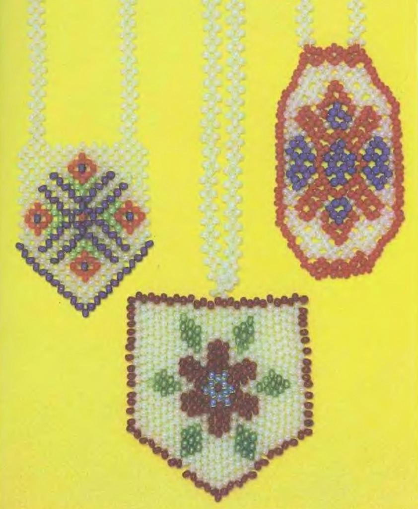 красивые кулоны из бисера