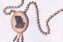 Кулон «Бусина» и «Сирень»