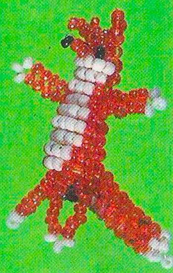 С плетения ушек набираем 4 бисер