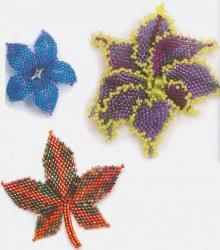 плетение цветочных листов из бисера
