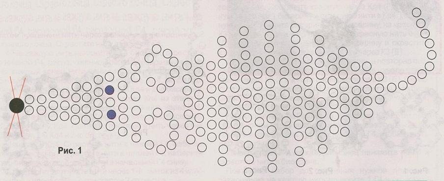 схема мышки из бисера. схема плетения серой мышки.