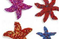 разные морские звезды из бисера