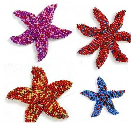 Бисероплетение морская звезда - Делаем фенечки своими руками.
