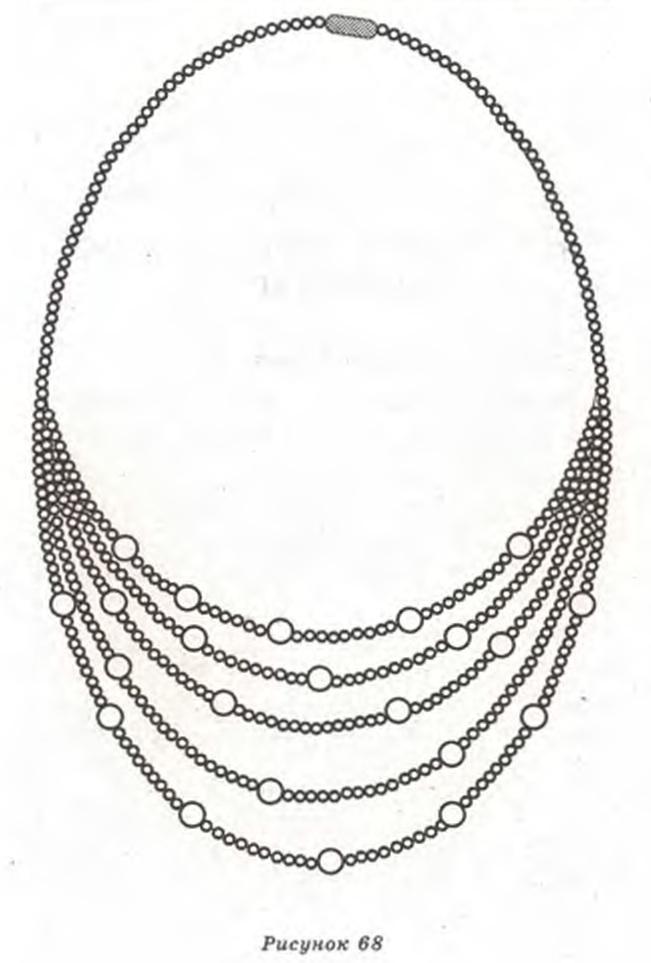 ожерелье из бисера схема - Мир Бисера.