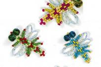 разноцветные осы из бисера