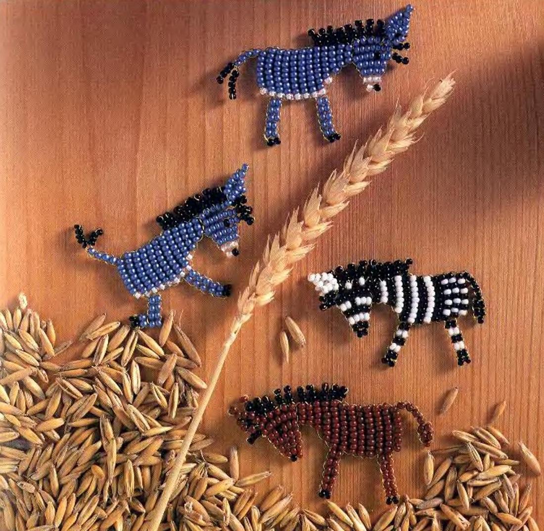 Картинки плоских животных из бисера
