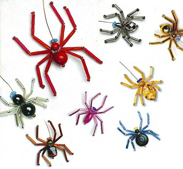 как из бисера сделать паука - О том, как плести бисером.