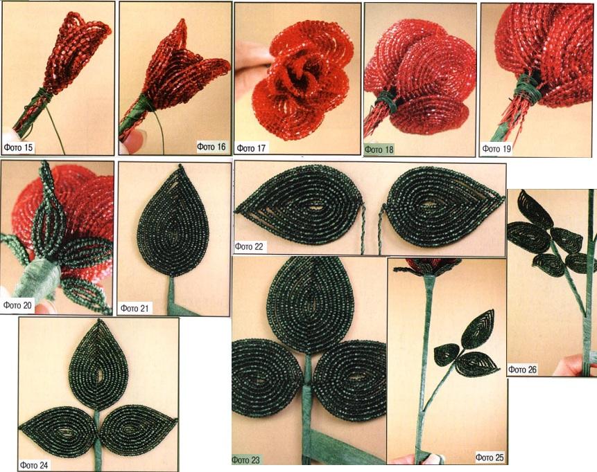 Схемы, картинки, фотографии и описание .  Показаны результаты поиска по запросу как делать розу из бисера схема.