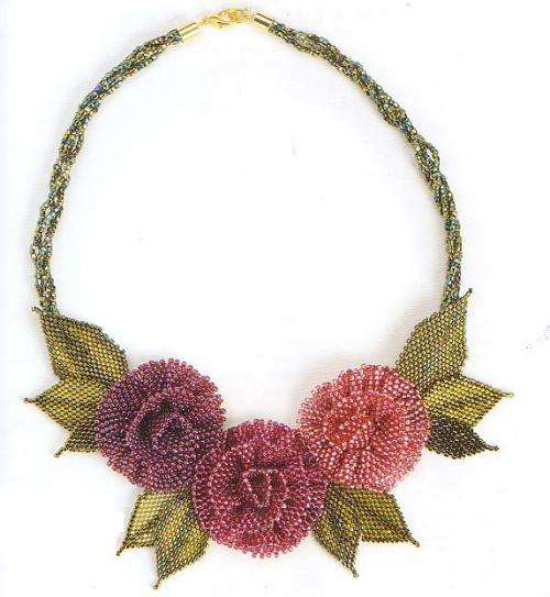 плетение розы