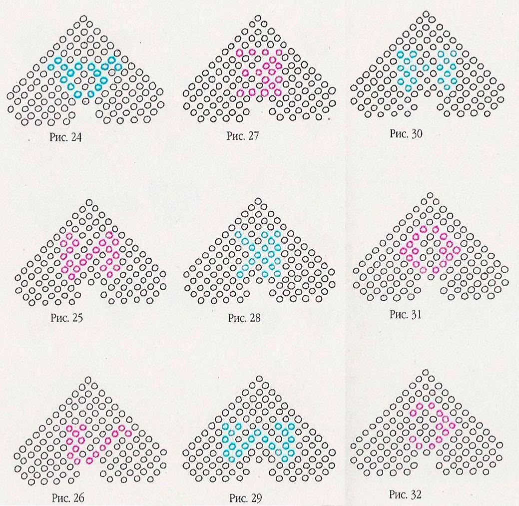 Схема плетения сердечек