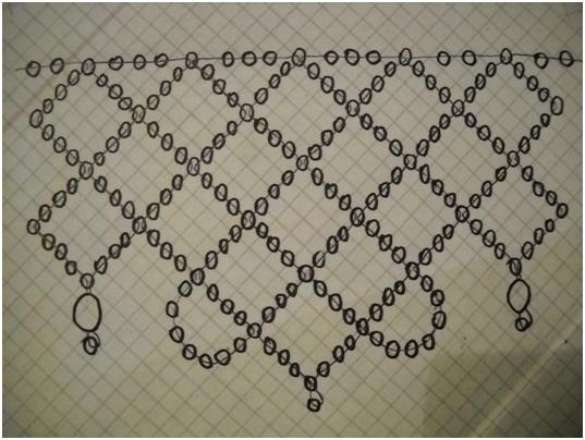 схемы колье из бисера и камней - Практическая схемотехника.