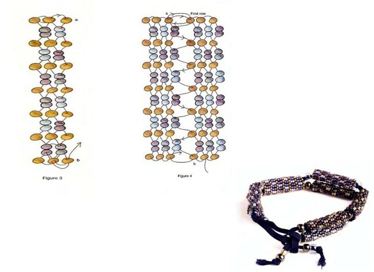 Панно-схема плетения фенечки из фильма Сумерки (Роберт Паттисон) .
