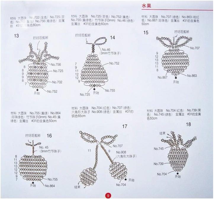 biser.info. игрушка Схемы Источник. странички с китайского журнала.