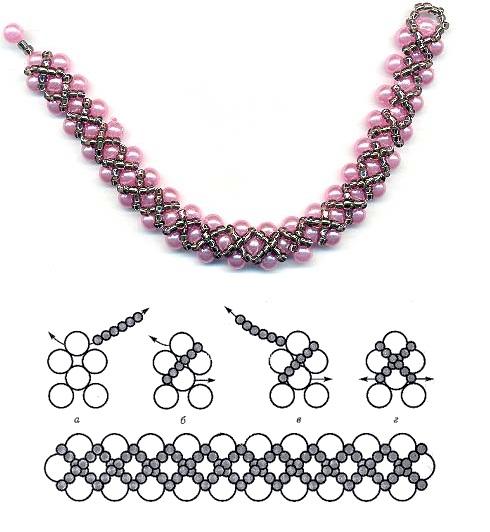 браслеты из бисера жесткие схемы - Схемы.