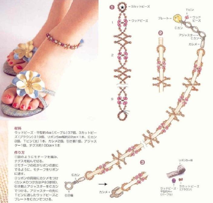 ...как... застежка, которая крепиться к шнурку специальными зажимами. ремешок белого цвета или шнурок - бисер крупный...