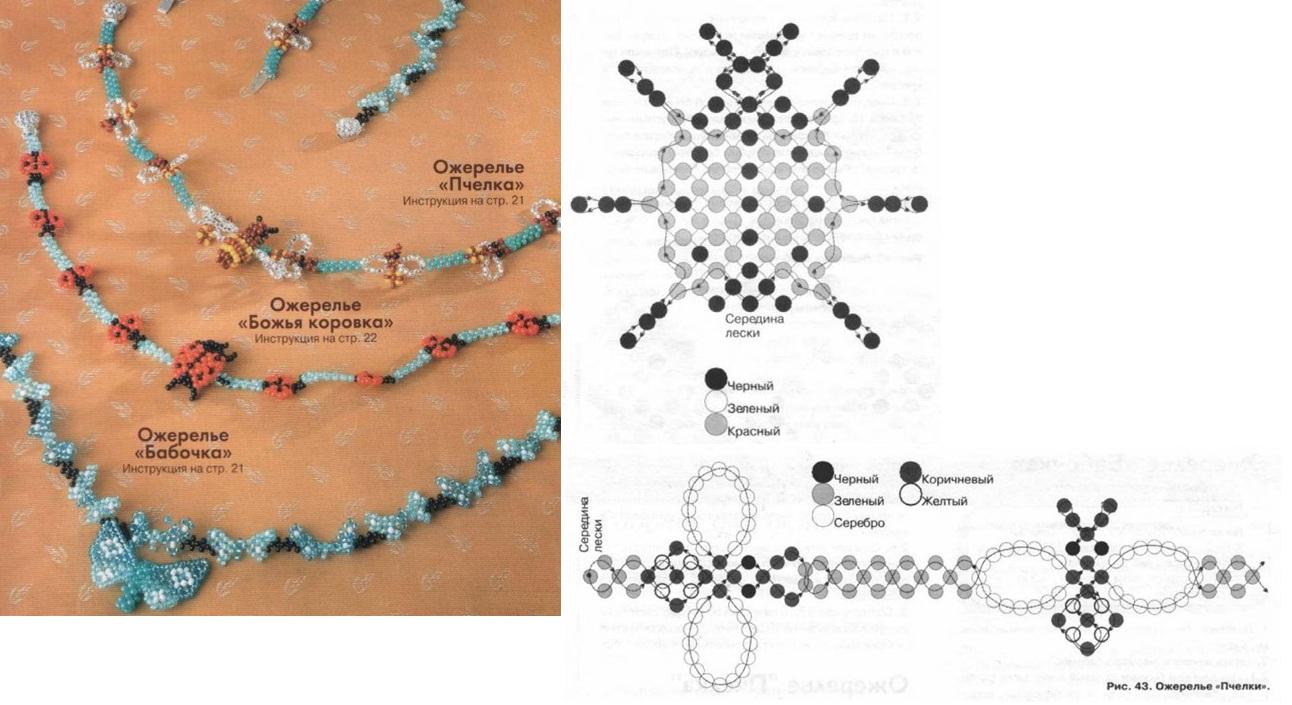 Браслеты из бисера для детей схемы плетения 188