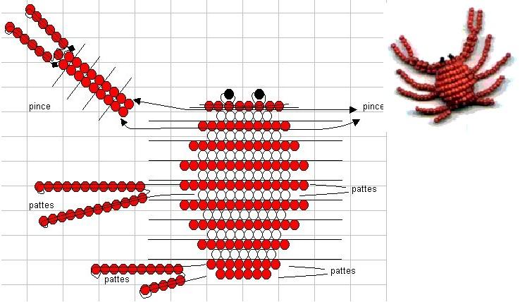 Плетется он из красного бисера на медной проволоке в параллельной технике плетения.  Еще вам понадобится 2 черные...