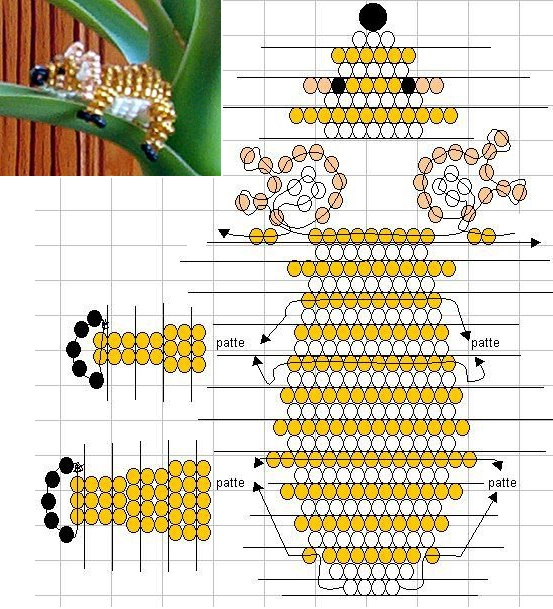 бисера схемы плетения для
