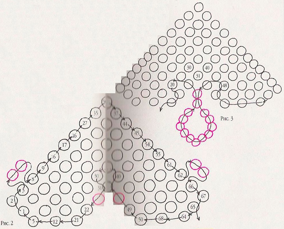 Схема плетения сердечко из