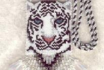 сумочка из бисера с тигром