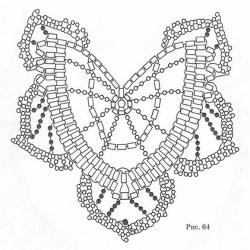 схема колье из бисера