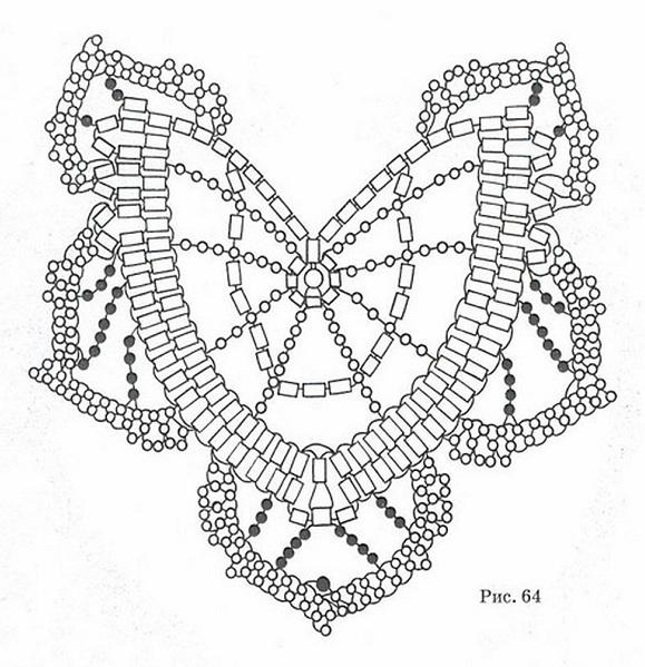 Бабочки из бус и бисера с
