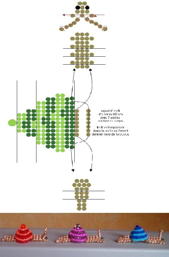 Объемные улитки из бисера
