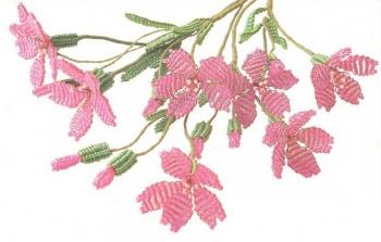 цветы смолевки из бисера