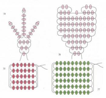 плетение цветов смолевки из бисера