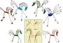 схема лошадки из бусин, бисера и проволоки
