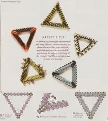 схема изготовления треугольников из бисера