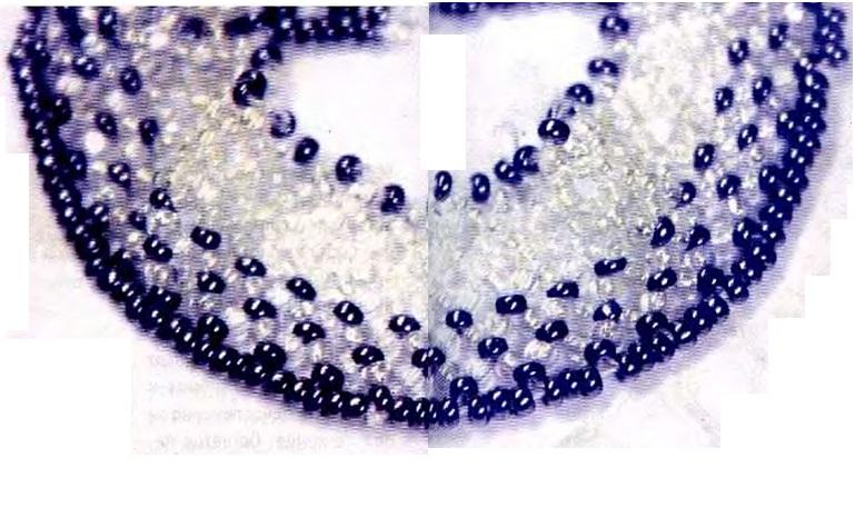 """Украшение  """"Хрусталь """" плетется из бисера одинакового размера.  Если вы хотите получить более тонкое и нежное украшение..."""
